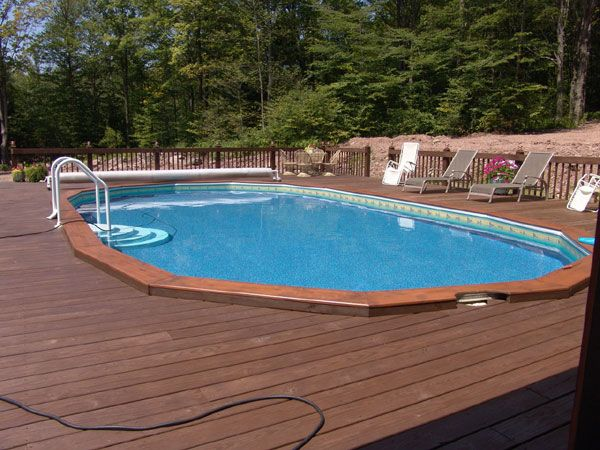 Semi Inground Pools Custom Decks And Fence On Pinterest