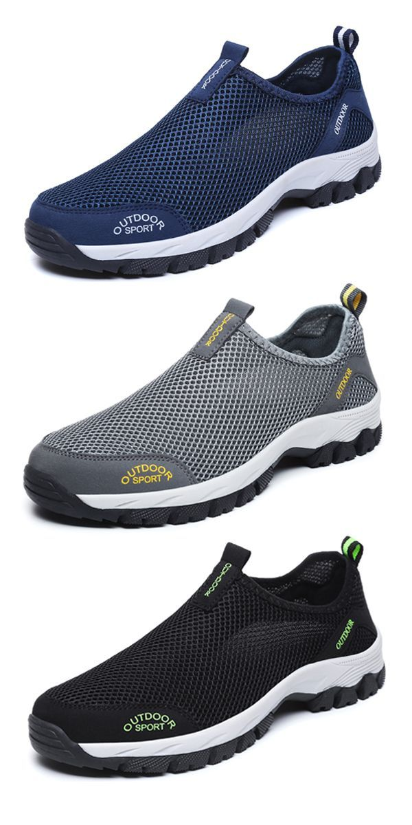 0998cadeeb9e  US 26.49 Mens Large Size Mesh Non-slip Wear-resistant Outdoor  Sneakers outdoor  outdoors  travel  shoes