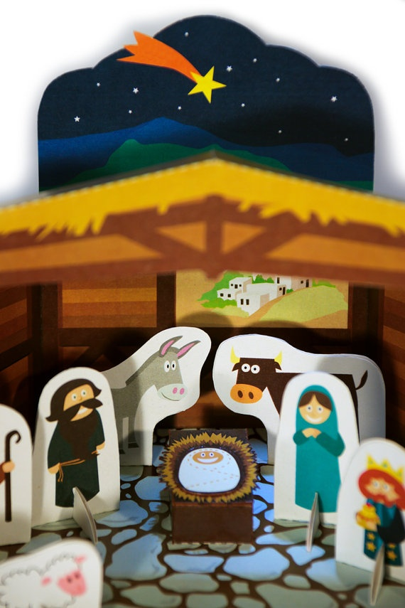 157 best belenes manualidades images on pinterest christmas nativity scene paper theater printable pdf toy diy von pukaca 700 solutioingenieria Gallery