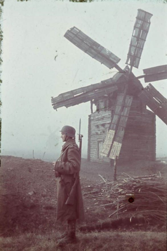 German Wehrmacht... Standing guard in The Netherlands.