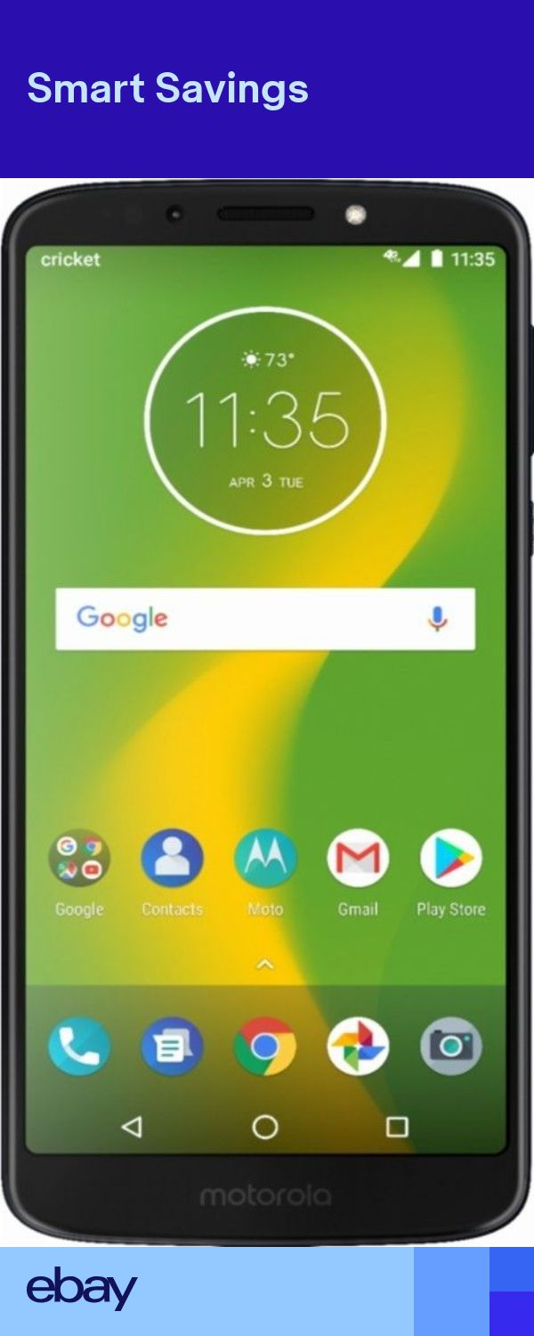 Brad New Moto G6 Forge With 16gb Memory Prepaid Phone Black Cricket Wireless Prepaid Phones Cricket Wireless Motorola