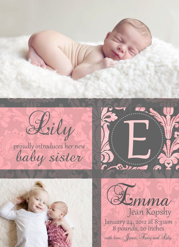 18 best Birth Announcement Ideas images – Sibling Birth Announcement Wording