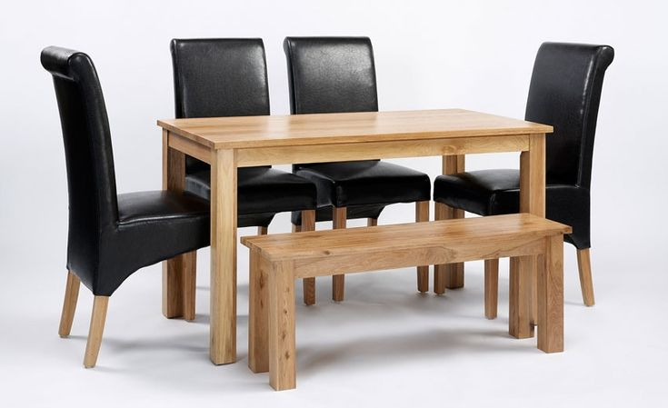 Lansdown Oak Dining Table & 2 or 4 Brown Rollback Dining Chairs & Bench http://solidwoodfurniture.co/product-details-oak-furnitures-2434-lansdown-oak-dining-table-or-brown-rollback-dining-chairs-bench.html