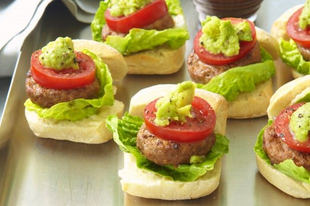 Mini beef sliders make a simple and tasty dinner or entree for guests.