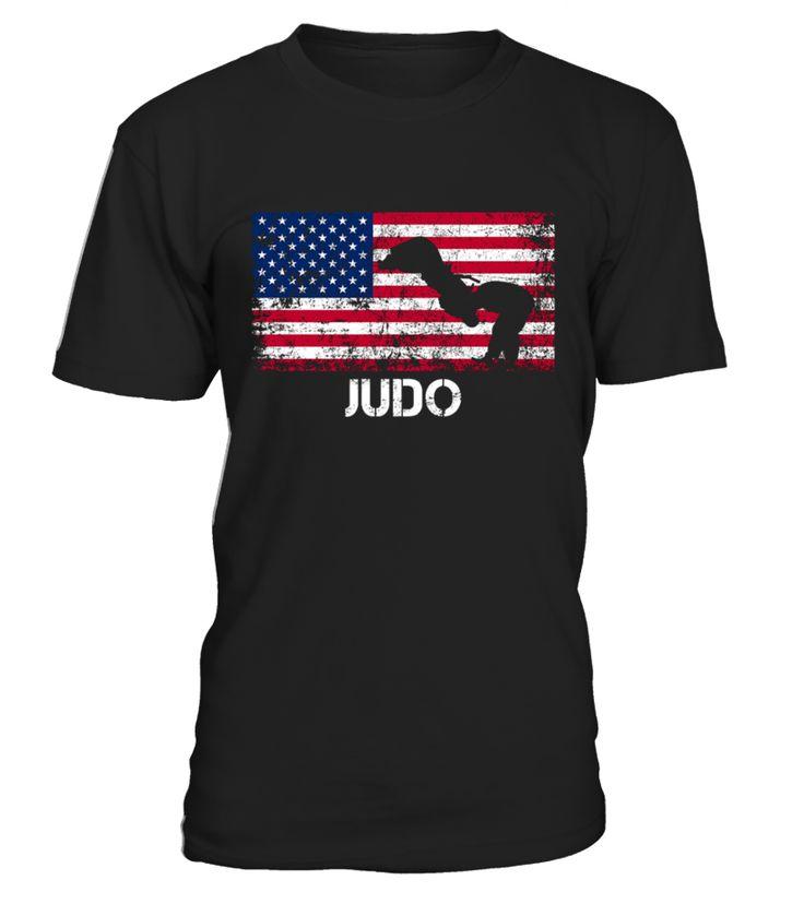 American Flag Judo Shirt   Judo Team Gift