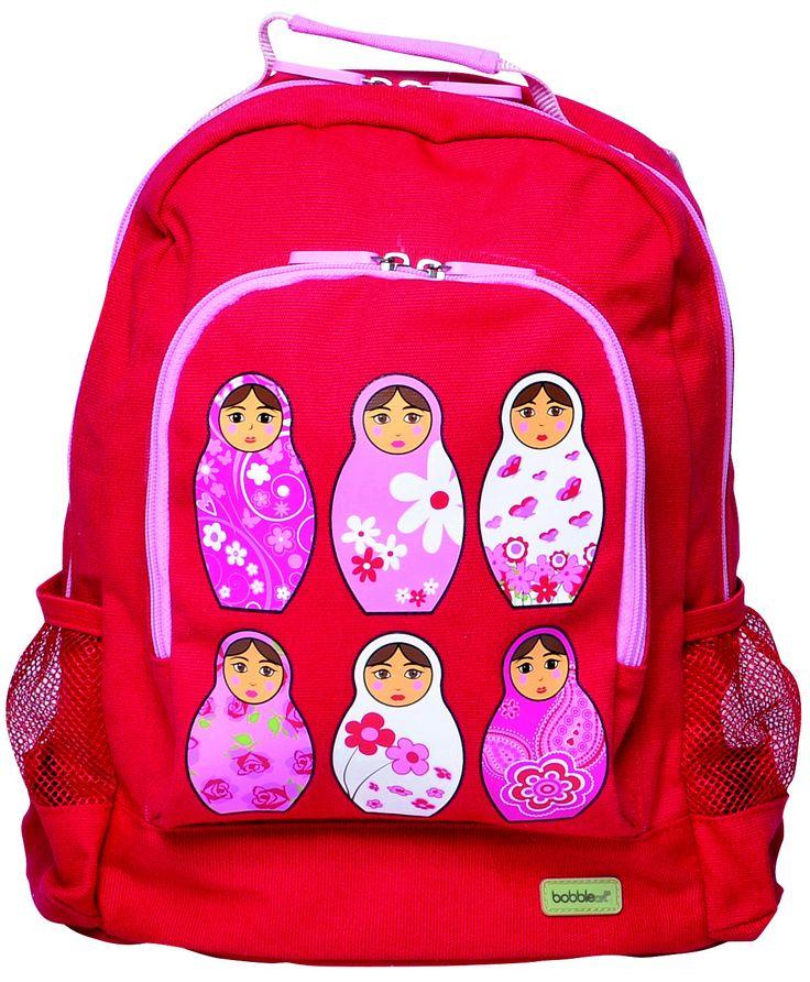 Bobble Art Red Babushka Canvas Backpack www.partytwinkle.com.au FREE shipping on minimum order