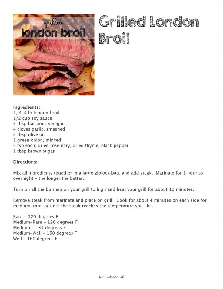 London broil quick and easy recipes