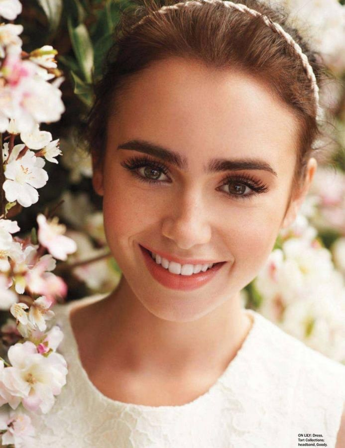 Lily Collins Her Thick Eyebrows Are So Cute Makeup Tips Pinterest Thick Eyebrows Lilies