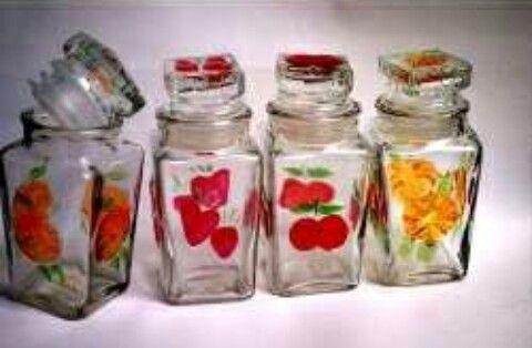 Adorno para cocina frascos de vidrio decorados y - Frascos de vidrio decorados ...