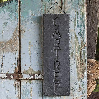 Slate Cartref Hanging Sign
