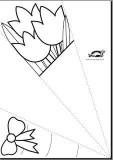 Bosje bloemen -sjabloon