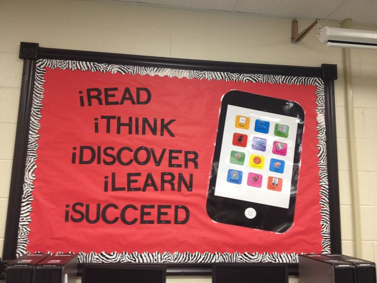 Great bulletin board idea for someone like me who does not like to change them often