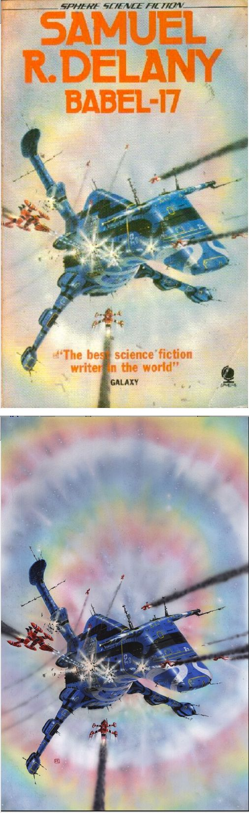 Watercolor book covers - Peter Elson Babel 17 By Samuel R Delany 1977 Sphere Books
