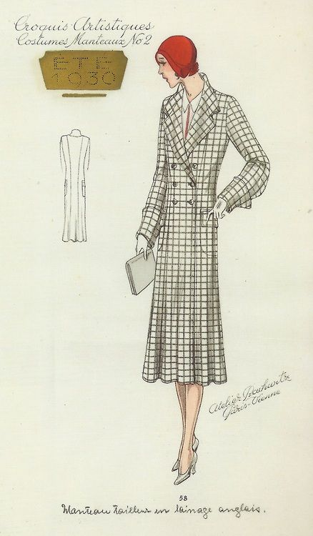 Day Coat Sketch, 1930