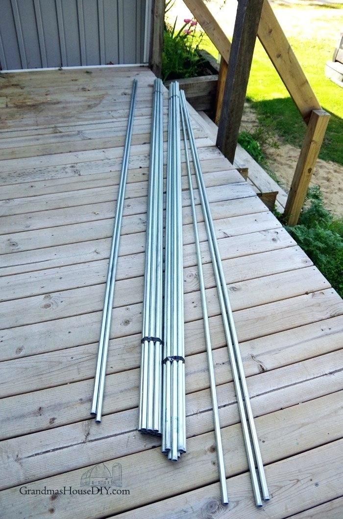 diy inexpensive deck rails out of steel conduit easy to do ...