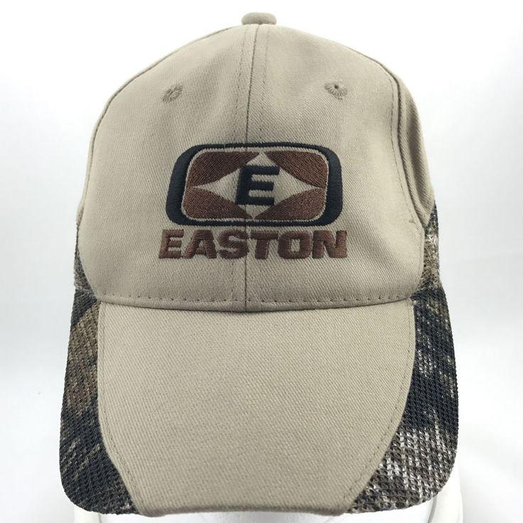 Easton Archery Beige Baseball Cap Hat w Mesh Sides Adjustable  #Unknown #BaseballCap