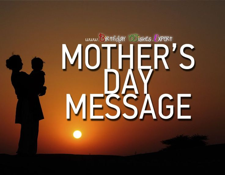 A great message for Mother's Day - coming up!