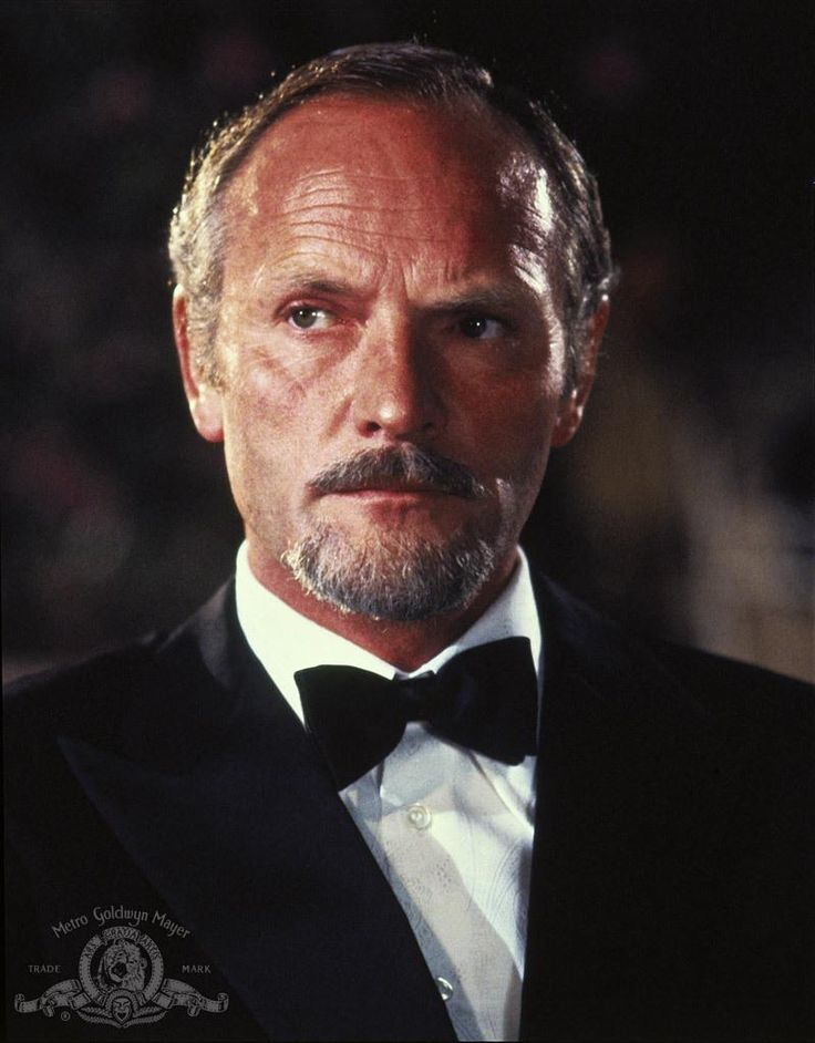 "Julian Glover as Kristatos the villain from ""From Your Eyes Only"""