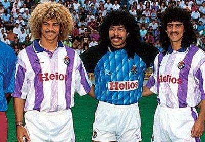 Carlos Valderrama & René Higuita & Leonel Álvarez, Real Valladolid