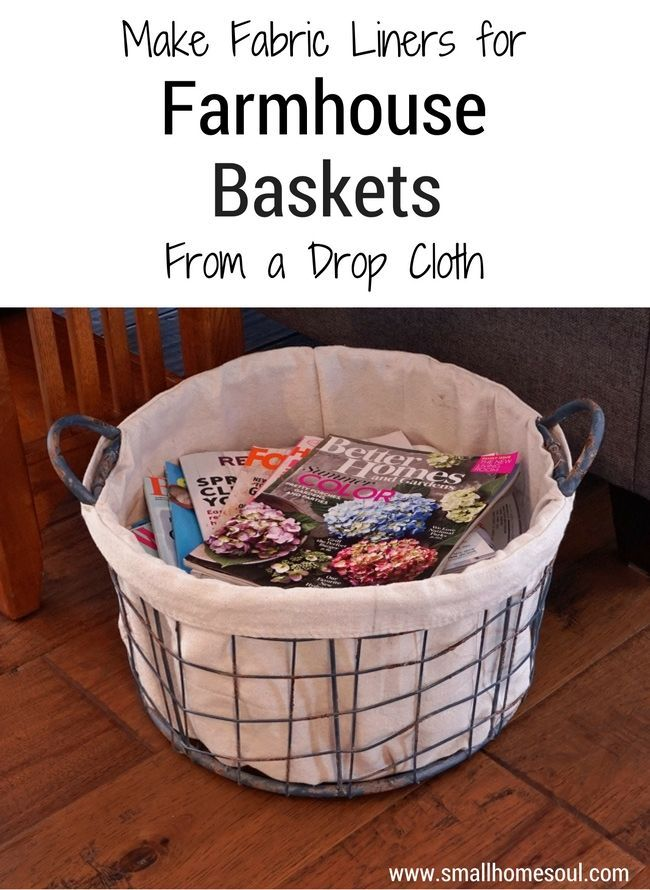 Make your own drop cloth basket liner, without a pattern, using the steps in this tutorial by http://www.smallhomesoul.com. It will show off the beauty and…