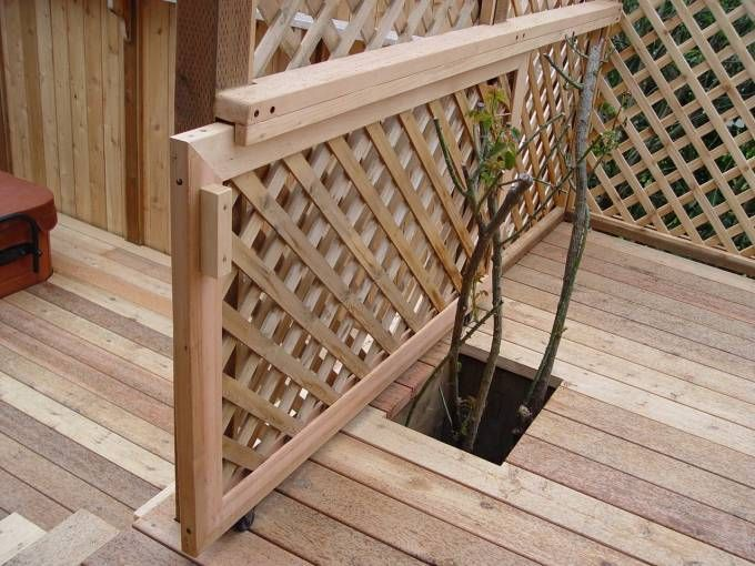 Sliding Deck Gate. Would Need Lock For Kids. Has Wheels On Bottom? Lots