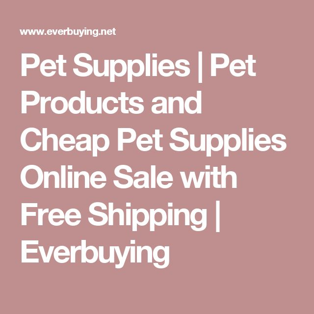 Pet Supplies | Pet Products and Cheap Pet Supplies Online Sale with Free Shipping | Everbuying