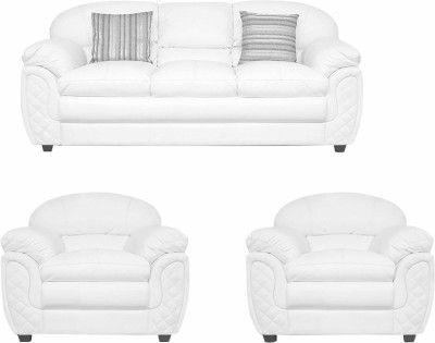 Best Comfy Sofa Leatherette 3 1 1 White Sofa Set 400 x 300
