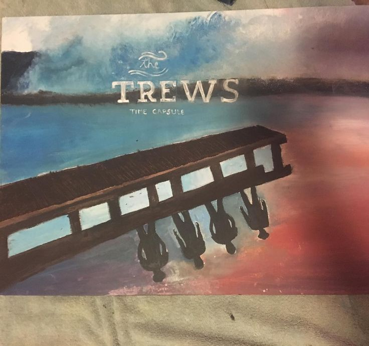"Look at this great painting of the Trews' ""Time Capsule"" album that we found over on Instagram. How talented is Kyla! Are you artsy too?"