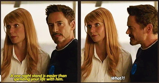 Hahaaa! XD Pepper has just as much sass as Tony! XD can't wait for Iron Man 3 :)