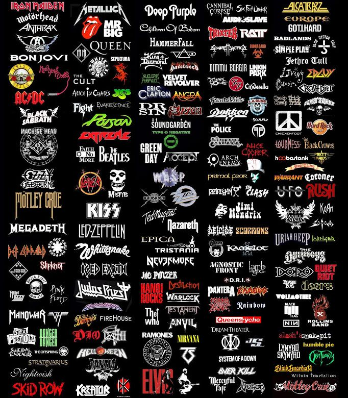 Hard Rock & Heavy Metal bands, plus a little classic & oldies stuff thrown in for good measure.