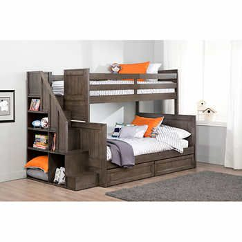 Ryan Twin over Double Bunk Bed with Universal Staircase