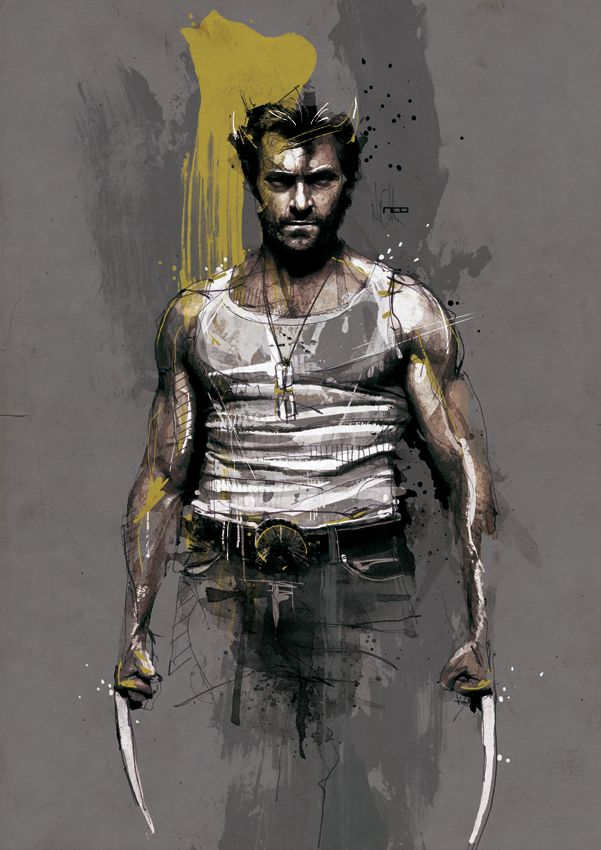 Wolverine by neo-innov | First pinned to Celebrity Art board here... http://www.pinterest.com/fairbanksgrafix/celebrity-art/ #Drawing #Art #CelebrityArt