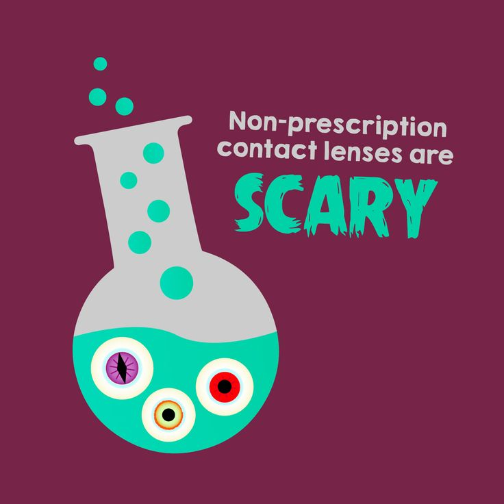 BUYING CONTACT LENSES without a prescription leads to eye damage, infection, and even permanent vision loss!   Keep your eyes safe this Halloween! #ZionsvilleEyecare