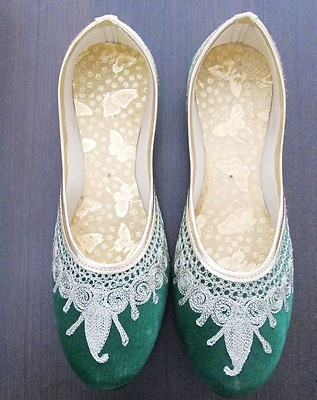 Indian Traditional Shoes Jaipuri Mojari Khussa Wedding Shoes Punjabi Jutti | eBay