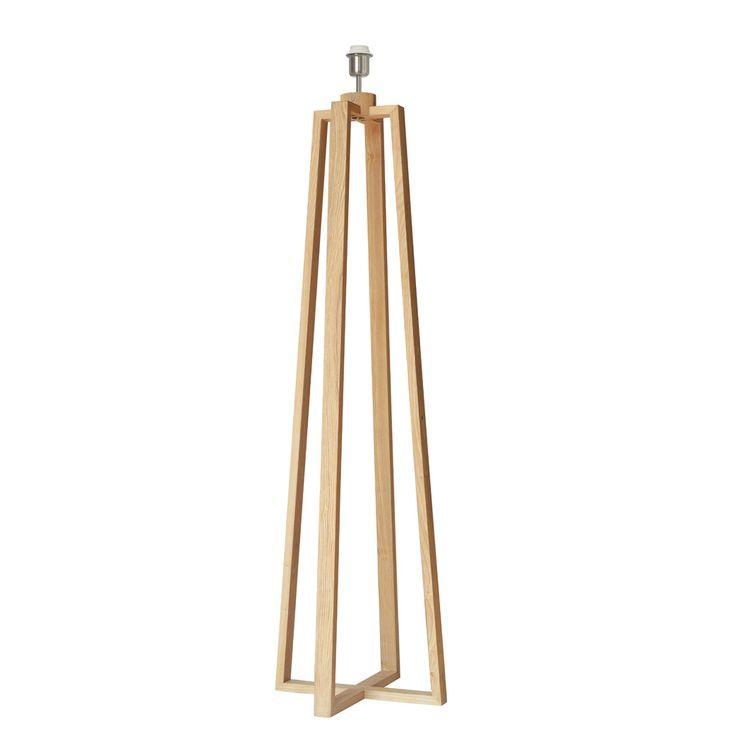Pied de lampadaire en bois pour culot E27 hauteur 144cm Sachi Inspire port offert
