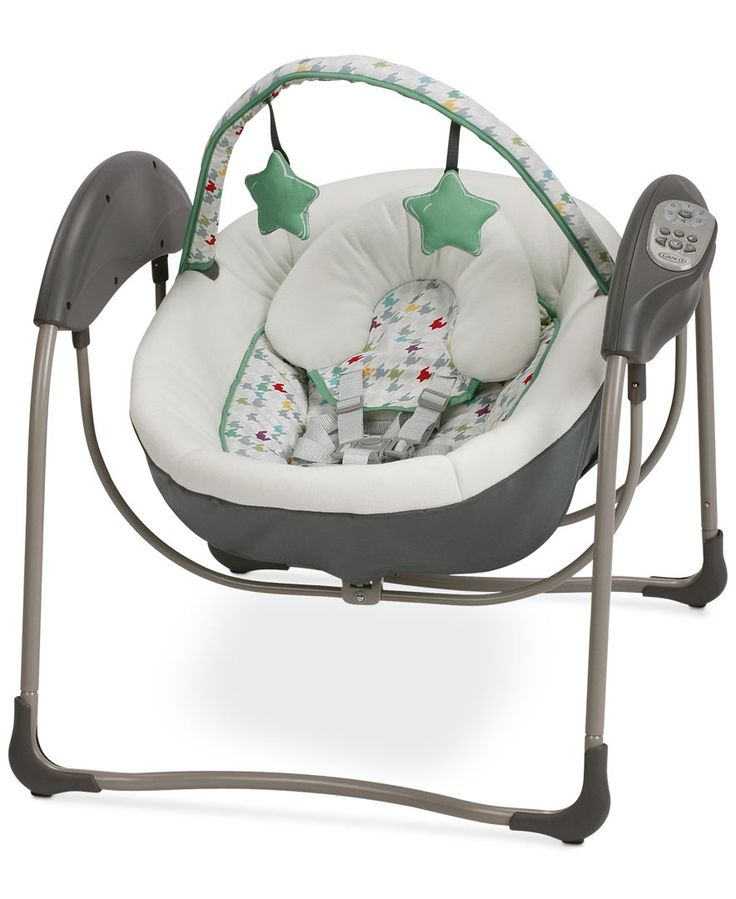 Comfort your little one wherever you are with the Graco Glider Lite Swing. The Glider Lite's six gliding speeds mimic the soothing cuddling motions that baby loves while in your arms, but from the com