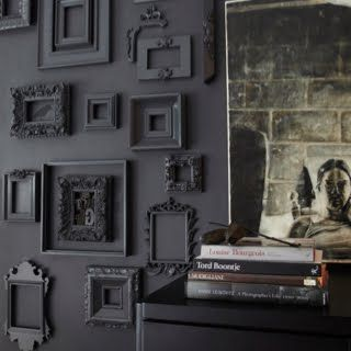 Photo frame wall - need to do this in my bedroom!