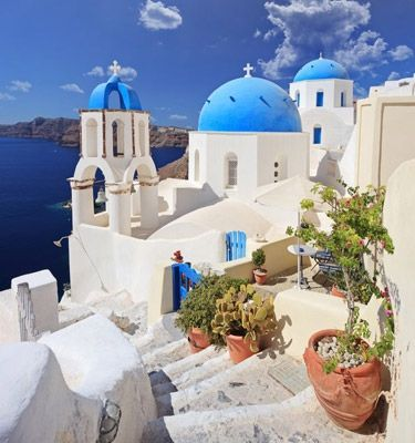 At the top santorini greece and i am on pinterest for Honeymoon packages santorini greece