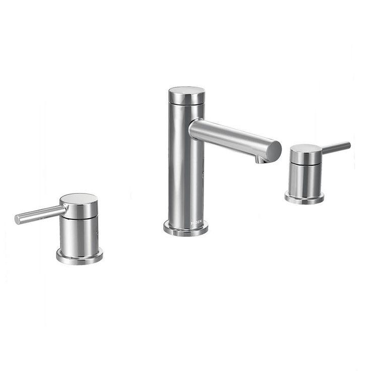Moen Align Chrome 2-Handle Widespread WaterSense Bathroom Faucet (Drain Included)