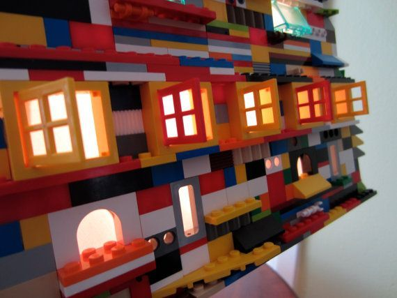 Wonderful Really Nice Handmade Lego Lamp, It Is Expensive Though, But It Can Really  Add To Your Lego Movie Bedroom Theme