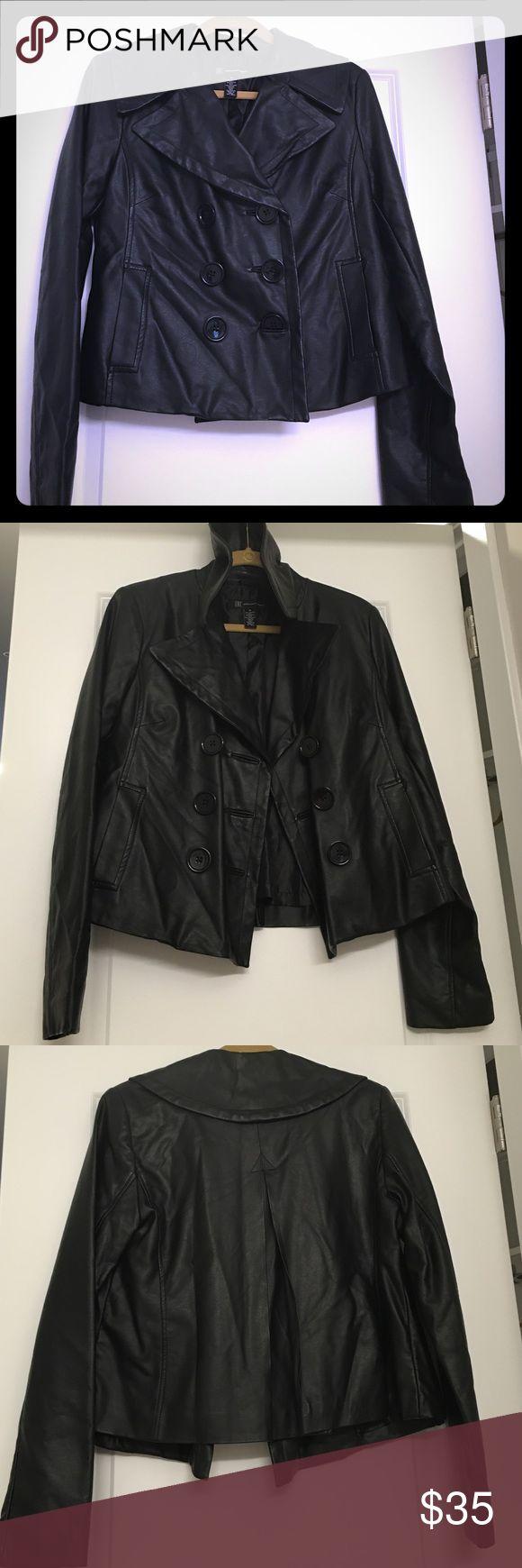 Macy's INC Black Jacket Macy's INC Black Non-Leather Jacket. Shell: 100% Rayon with Polyurethane Coating; Lining: 100% Polyester INC International Concepts Jackets & Coats