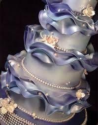 .wavy pearl cake
