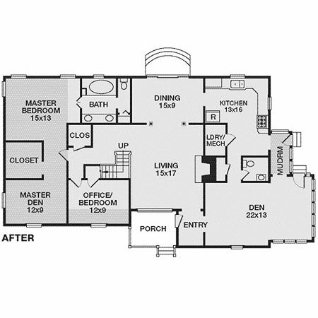 17 best images about home additions on pinterest home for Cabin addition floor plans