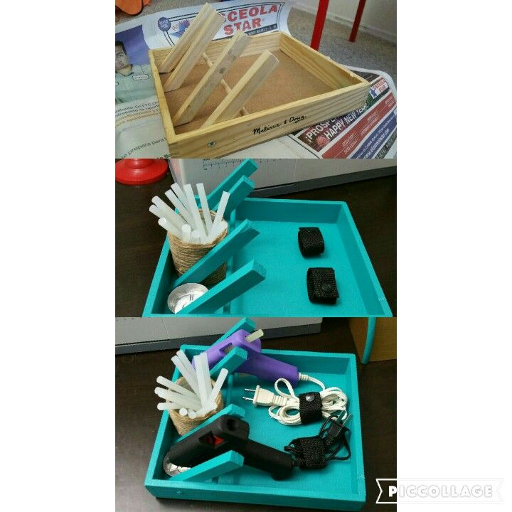 DIY Hot Glue Gun Holder... Hecho por mi esposo ♡