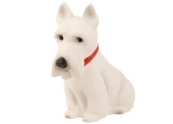 figuurlamp 3D witte scotch terrier Heico   kinderen-shop Kleine Zebra