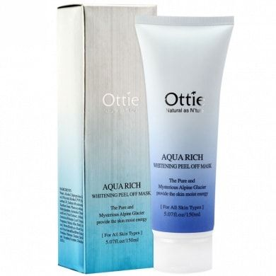 Корейская маска Aqua Rich Whitening Peel Off Mask Pack [Ottie]