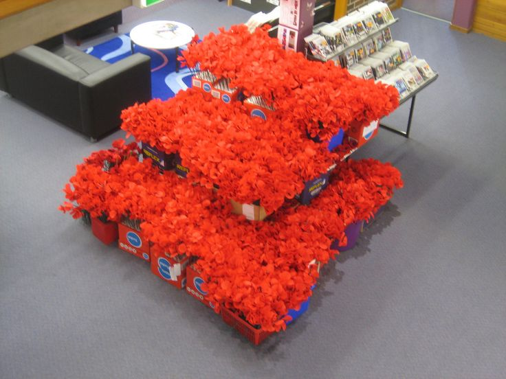 Handmade poppies awaiting installation at Gosford City Library April 2015 | Flickr - Photo Sharing!