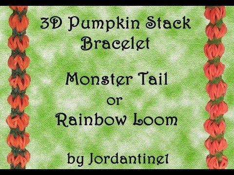 New 3D Pumpkin Stack Bracelet - Monster Tail - Rainbow Loom