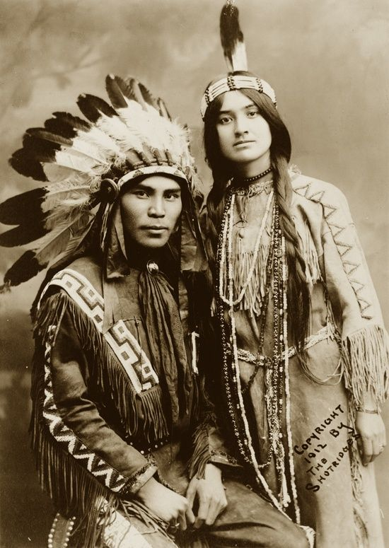 Situwuka and Katkwachsnea, Native American couple, 1912 Submitted by degbnth.......what beautiful people ~j