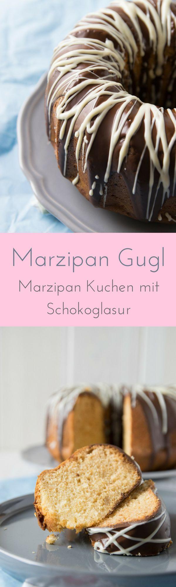 Marzipankuchen mit Schokoladen Guss